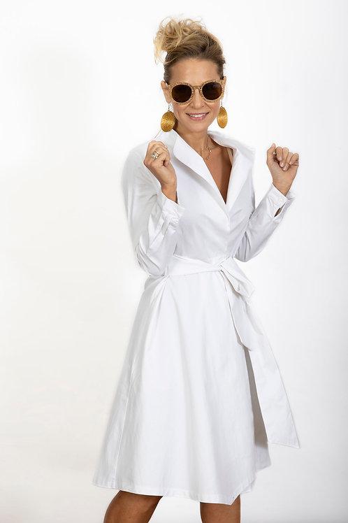 DEMMY  שמלה ג'קט לבן