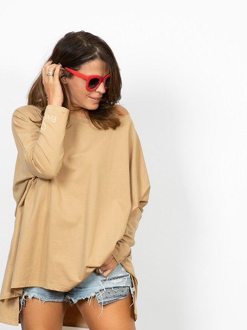 SAVOY  חולצת אוברסייז קאמל