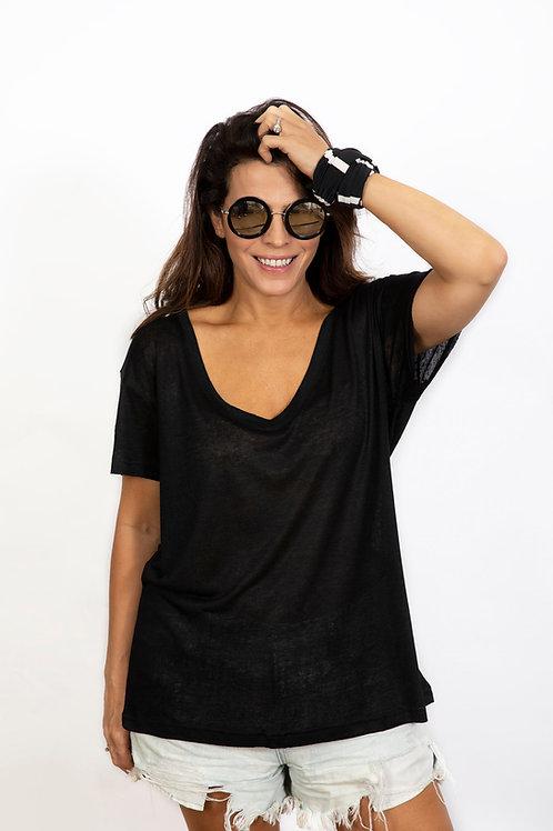 NEWAVEN חולצה שחורה