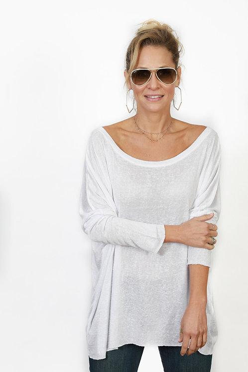 WHITE חולצה לבנה אוברסייז