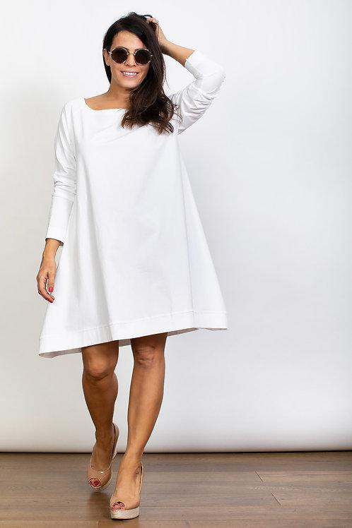 DEBRA  שמלה טוניקה לבנה