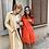 Thumbnail: SABIA שמלת מיני כתומה כפתורים