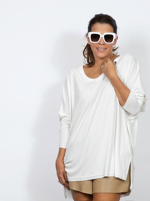 AIKO  חולצה לבנה אוברסייז