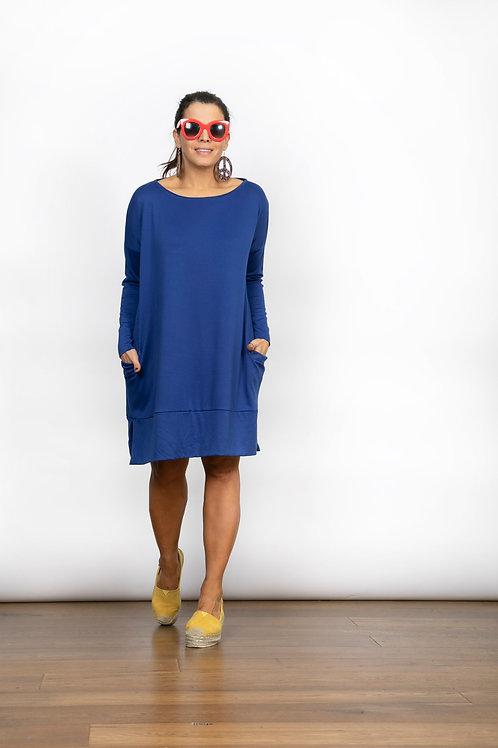 BLUE שמלה טוניקה כחולה