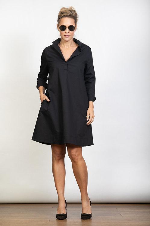 DVIRA שמלה שחורה כפתורים