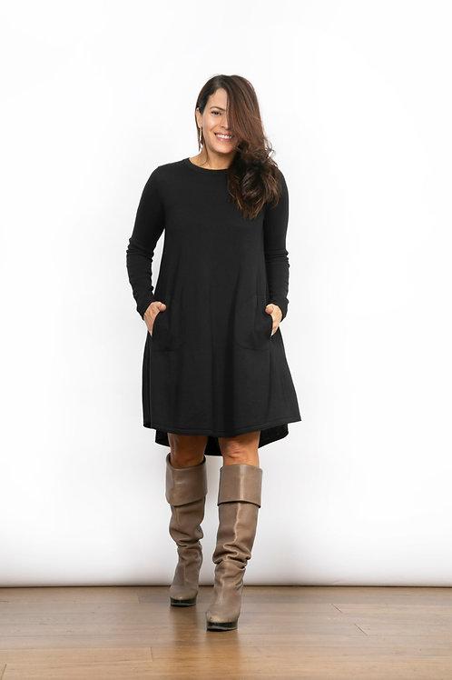BELA שמלת סריג קצרה שחורה