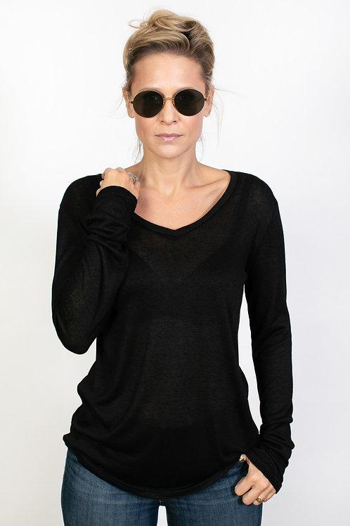 DUDU V חולצה שחורה