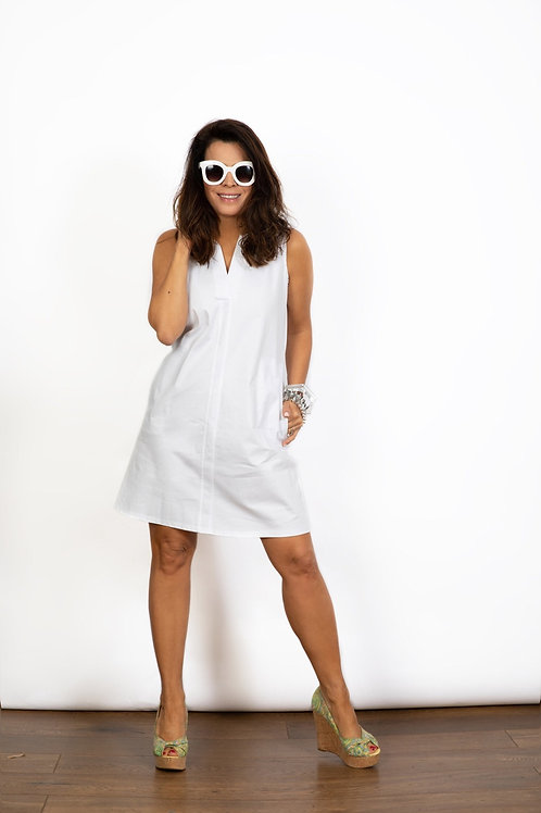 TULIP שמלה מיני לבנה