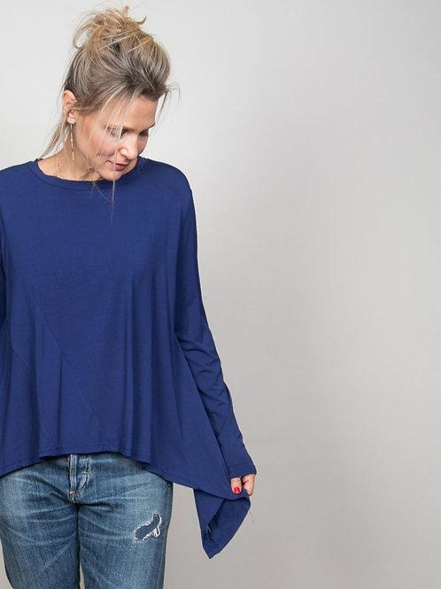 SEE חולצה מעוצבת כחולה