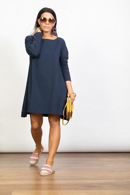 DEBRA  שמלה טוניקה כחולה