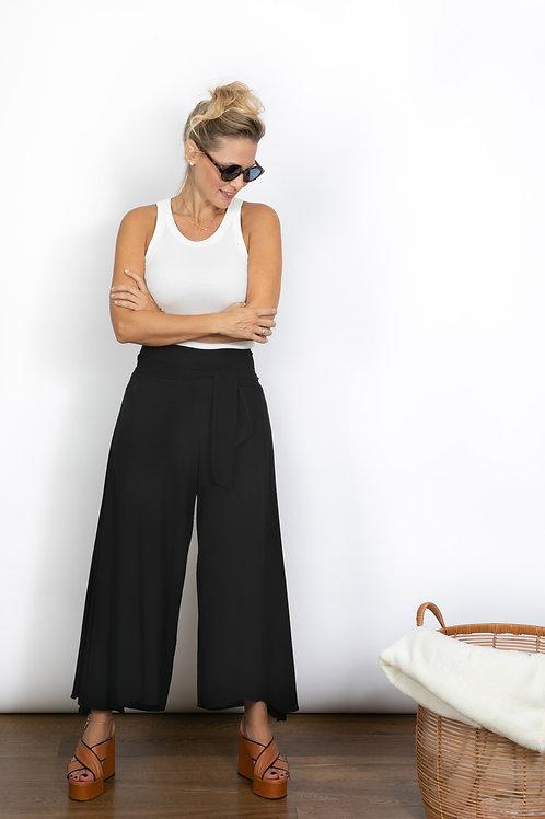 SLIM PANS מכנסיים צבע שחור