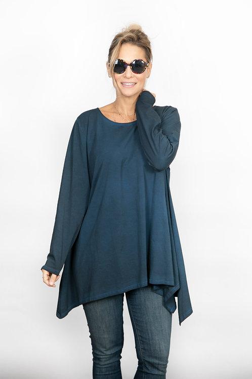ELIZABET חולצת אוברסייז ווש