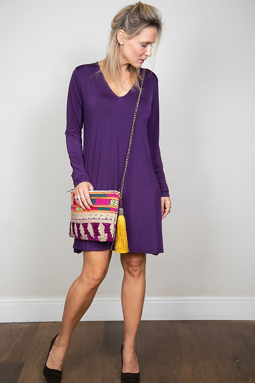 ODEL שמלה סגולה