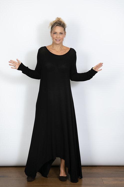 RANELLI שמלה שחורה מקסי