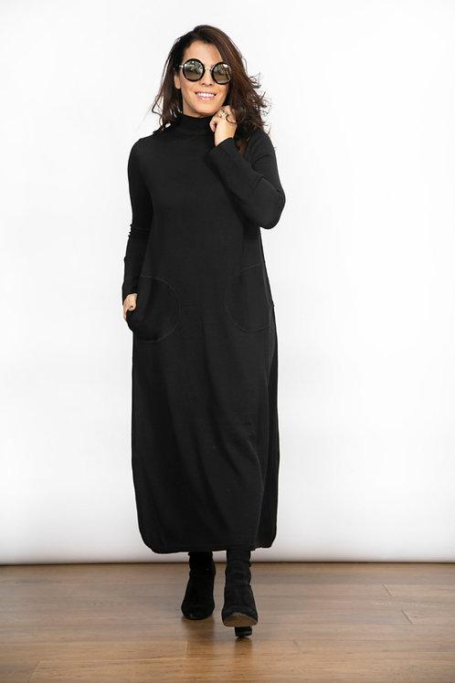 BLIND  שמלת סריג שחורה