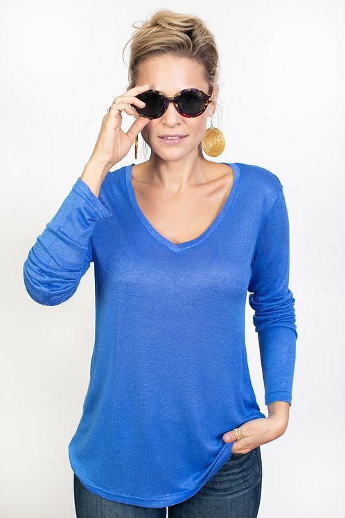 DUDU V חולצה כחולה