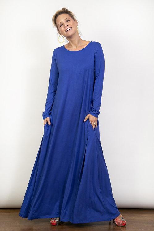 MAR שמלת מקסי כחולה