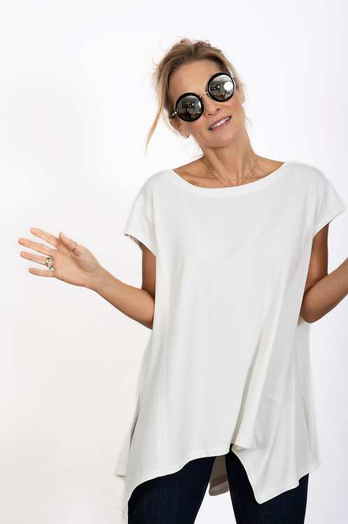 MAGGI חולצה לבנה אוברסייז