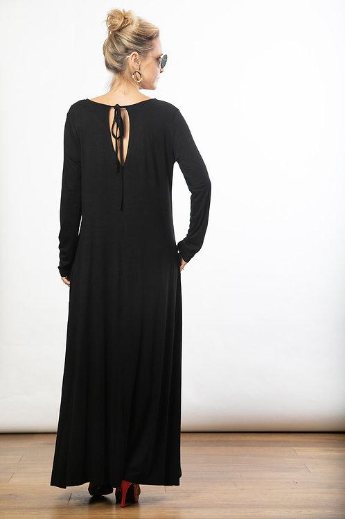 MAR שמלת מקסי שחורה