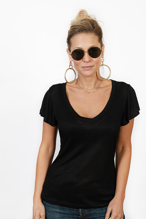 NIGHT חולצה שחורה בייסיק