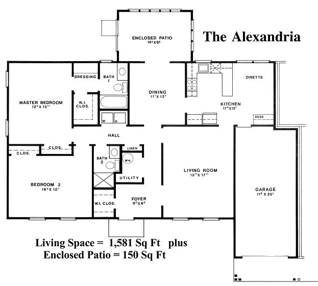 234-A Floor Plan | Rossmoor Sales