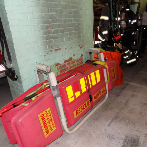 EMS Equipment Stored in Apparatus Bay