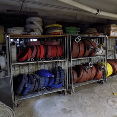 Hose Storage in the Basement