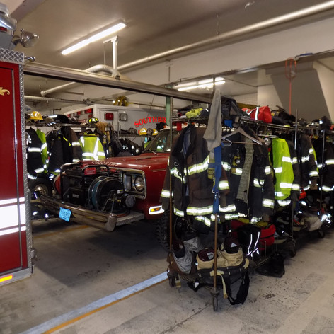 Turn-Out Gear Stored in Apparatus Bay