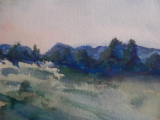 Peaceful Blue Hills