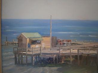"""Beach"" Artist Ji Chen, Winner 2000 Leongatha Rotary Art Show"
