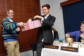 Marc Dinger drawing teh winning Rotary Wood Raffle ticket