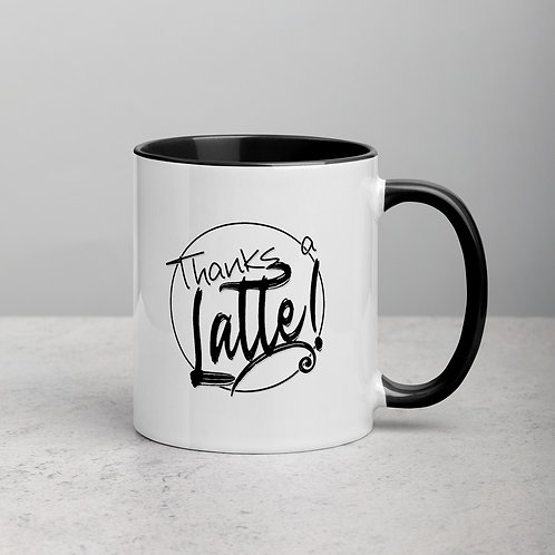 Thanks a Latte - Mug with Color Inside