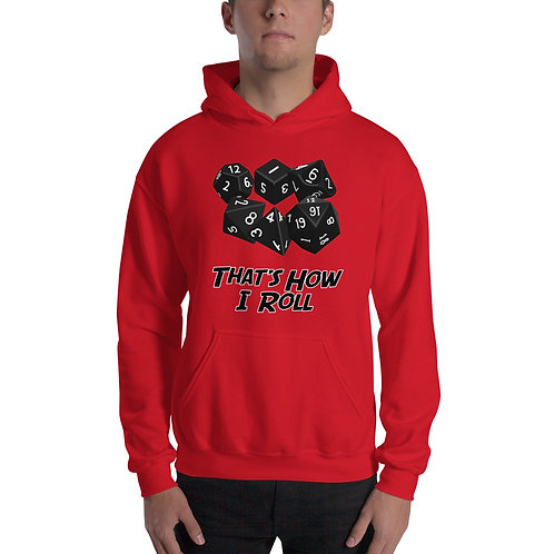 That's How I Roll Hoodie- Black Image