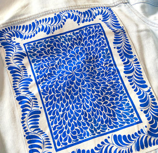 Fabric paint on Denim