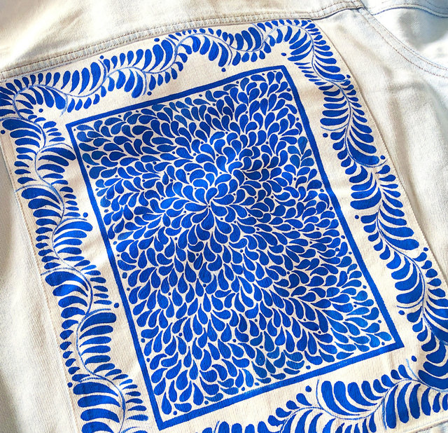 Fabric paint on Denim
