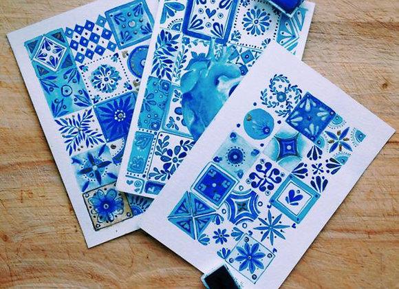 Watercolor Postcards Set