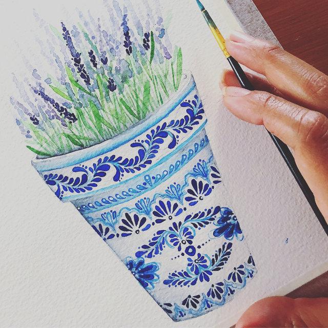 """""""Lavanda"""" - Watercolor on paper"""