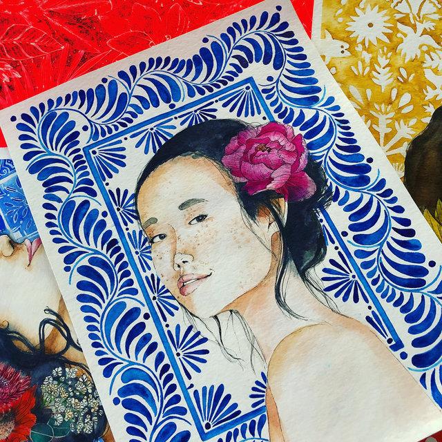 """Series """"Todas somos ellas"""" - Watercolor on paper"""