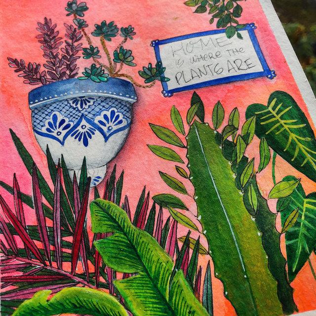 """Hogar"" - Watercolor on paper"
