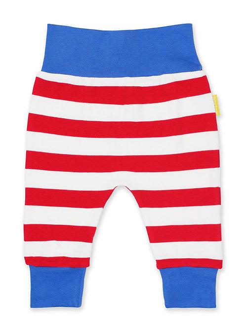 Organic Red Stripe Yoga Pants