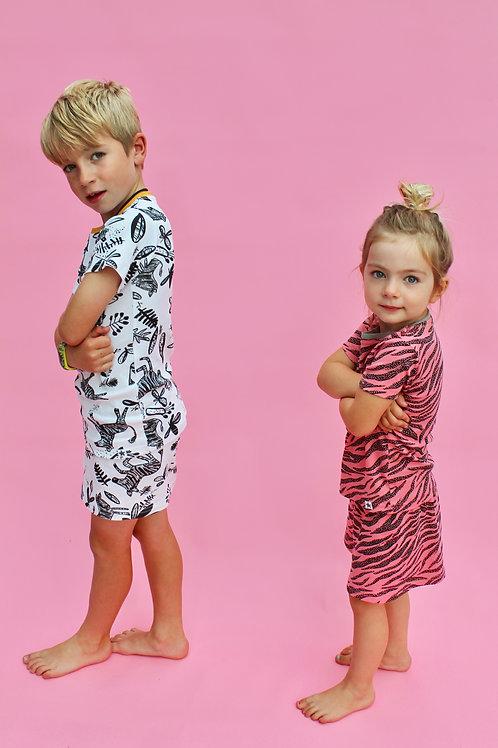 Mono Zebra Children's Shortie Set
