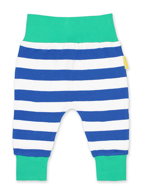 Organic Blue Stripe Yoga Pants