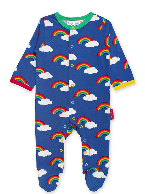 Toby Tiger Organic Rainbow Sleepsuit