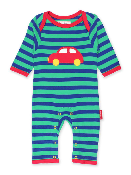 Toby Tiger Organic Red Car Sleepsuit