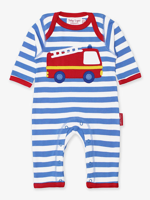 Toby Tiger Organic Fire Engine Sleepsuit