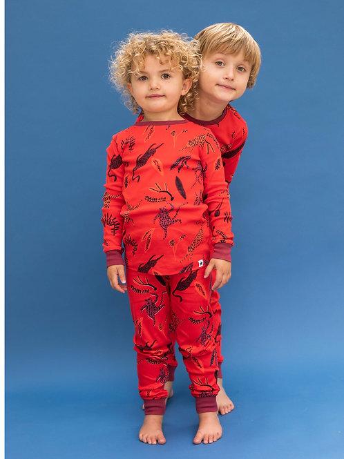 Red Leopard PJ Set