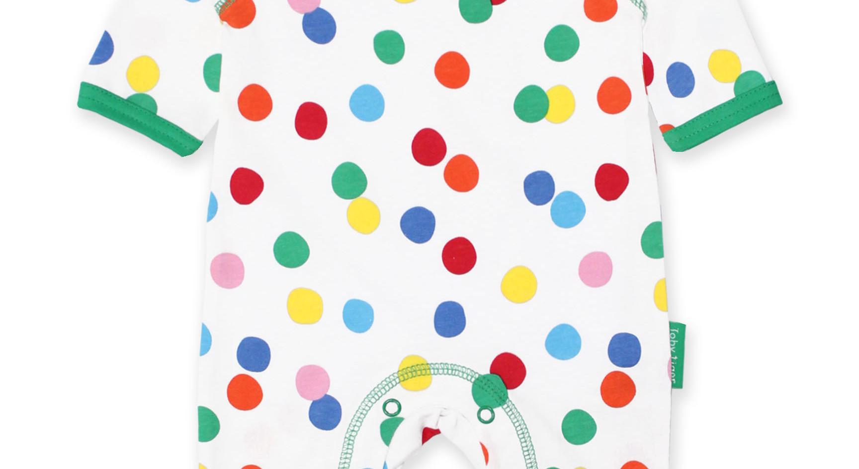 Organic Confetti Print Sleepsuit.
