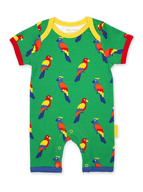 Organic Parrot Print Romper