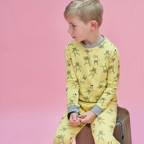 Yellow Bear Children's Pyjama Set