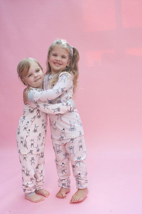 Pink Bear Children's Pyjama Set